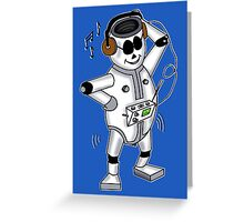 retro robot -the groover t-shirt Greeting Card