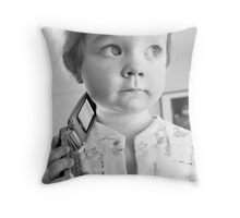 On Hold Throw Pillow
