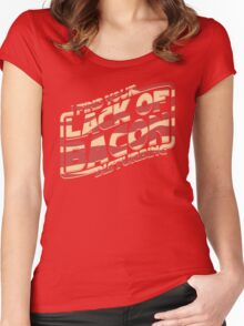 I Find Your Lack of Bacon Disturbing Women's Fitted Scoop T-Shirt