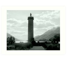 Jacobite Memorial , Glenfinnan Art Print