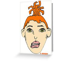 Anime Me - Self Portrait Greeting Card