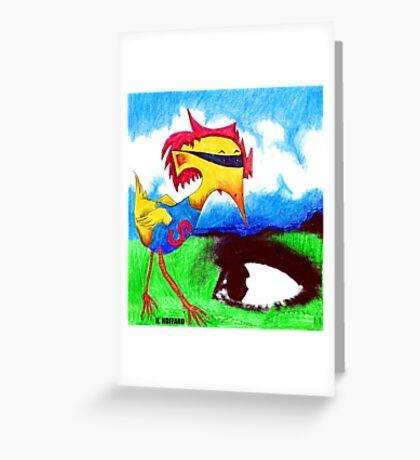Super Bird Greeting Card