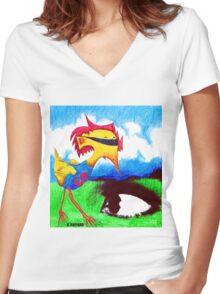 Super Bird Women's Fitted V-Neck T-Shirt