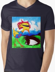 Super Bird Mens V-Neck T-Shirt