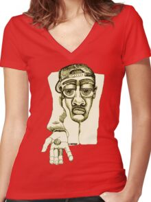 Please Women's Fitted V-Neck T-Shirt