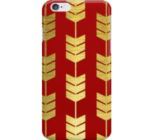 Red and Brushed Gold Arrow Tails iPhone Case/Skin