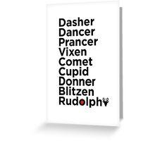 On Rudolf!! Reindeer Away! Greeting Card