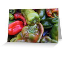 CHILI PEPPER RED GREEN  Greeting Card