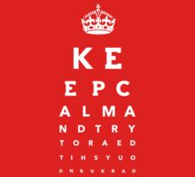 Keep calm eye test - color variation by Refugeek