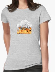 Fire is catching Womens Fitted T-Shirt