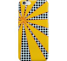 Pop Art Yellow and Baby Blue Dots iPhone Case/Skin