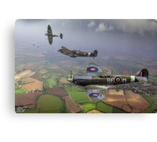 303 Squadron Spitfire sweep (cropped version) Canvas Print