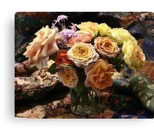 roses patchwork Canvas Print
