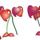 Heart Flowers by Jrsjewels