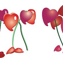 Heart Flowers by Jrsjewels
