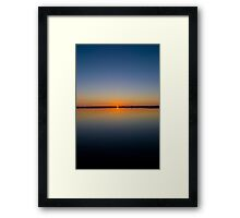 Calm Sunset Framed Print