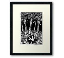 Badger Moon Framed Print