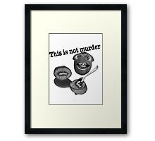 This is not murder kiwi 2 Framed Print