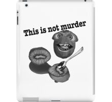 This is not murder kiwi 2 iPad Case/Skin