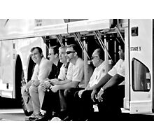 Bus Drivers Take a Rest. Photographic Print