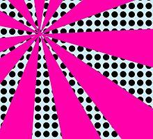 Pop Art Pink Starburst by ARTiculatePRINT