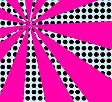 Pop Art Pink Starburst by ARTiculatePRINT