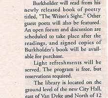 C & G news article for book signing in Warren Michigan by burk28