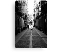 Crossing the line Canvas Print