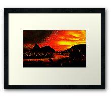 Rio de Janeiro Sunset Framed Print
