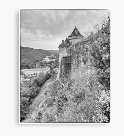 BW France Castelnaud Canvas Print