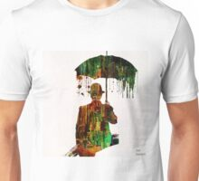 Rain in the abstract city  Unisex T-Shirt