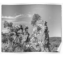 BW France Rocks at Montfort Poster