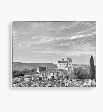 BW France Chateau Beynac Canvas Print