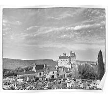 BW France Chateau Beynac Poster