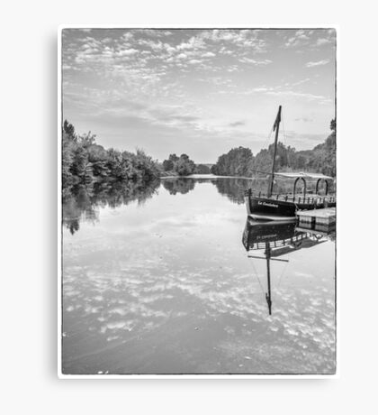 BW France Gabarre Canvas Print