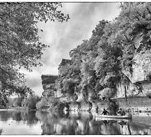 BW France Vezere River by Steven House