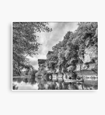 BW France Vezere River Canvas Print