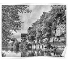 BW France Vezere River Poster