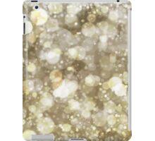 Sparkling gold Bokeh Print iPad Case/Skin