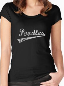 Poodles Rule Women's Fitted Scoop T-Shirt