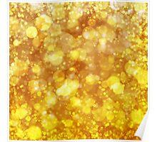 Sparkling Gold Bokeh Print Poster