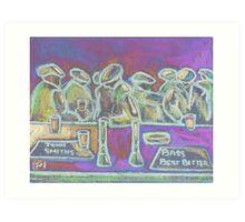 A Crowded Bar Art Print