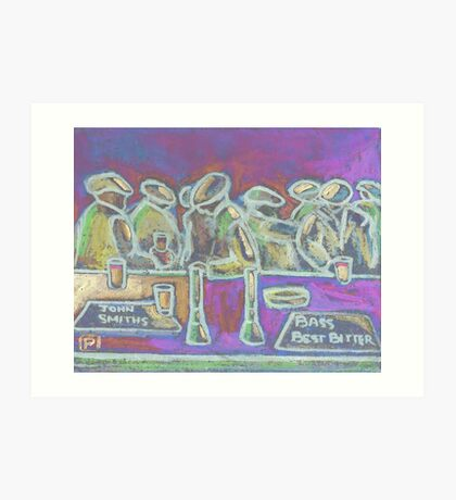 A Crowded Bar Art Print
