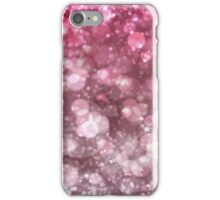 Pink Sparkling Ice Bokeh Print iPhone Case/Skin