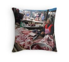 Bac Ha Market Throw Pillow