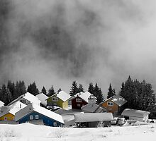 Chalets in the Alps by jephoto