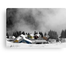 Chalets in the Alps Metal Print