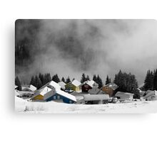 Chalets in the Alps Canvas Print