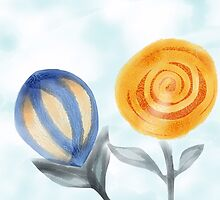 Moonflower Sunflower, Two New Crazy Flowers by windflower
