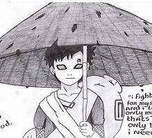 Gaara.  Blood Rain by kurazaki